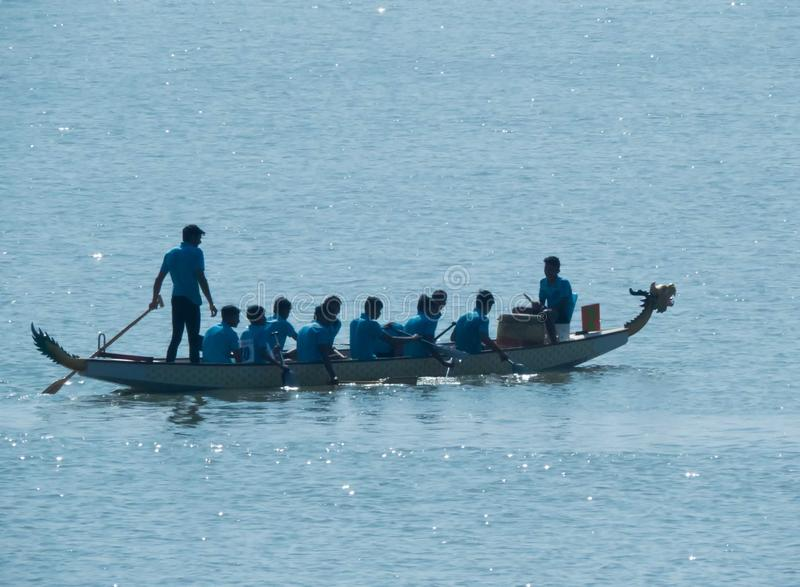 Dragon Boat Race, Team Work Concept stock foto