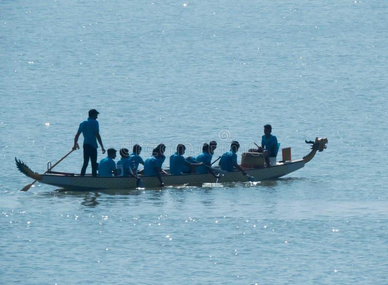 Dragon Boat Race, Team Work Concept foto de archivo