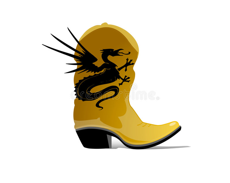 Dragon Boots vector illustration