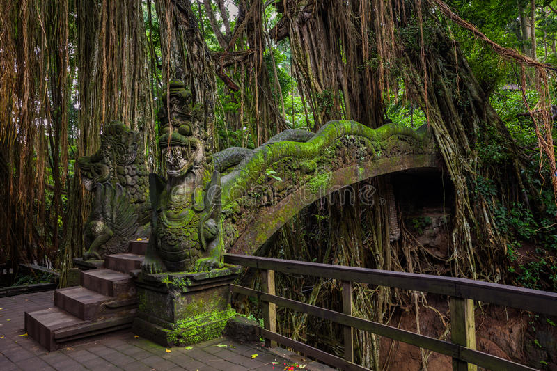 Download Dragon Bridge In Sacred Monkey Forest Sanctuary, Ubud, Bali Stock Image - Image of history, asia: 68307395