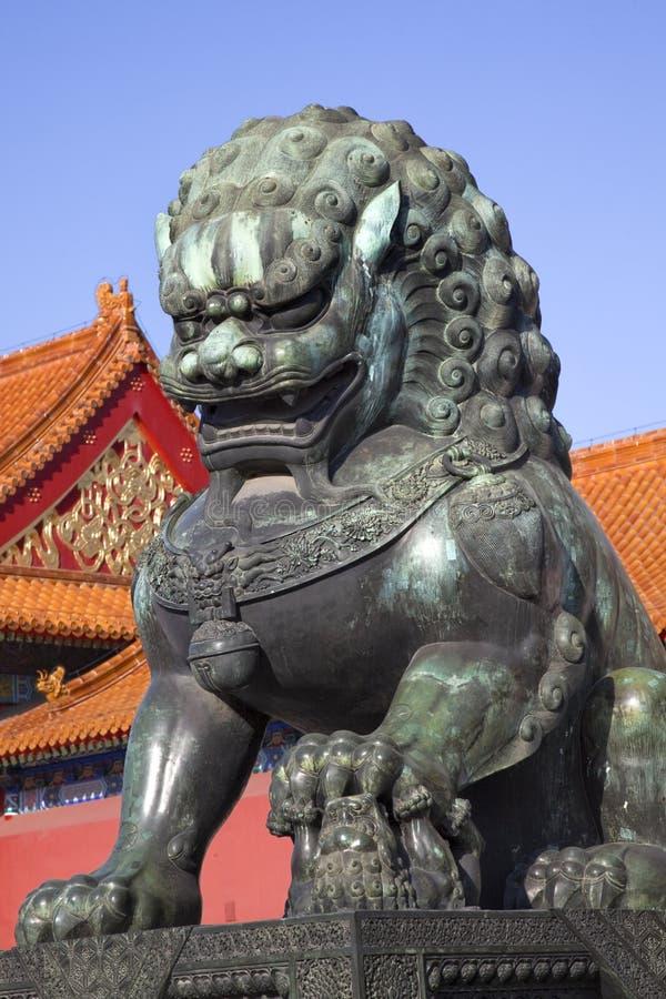 Dragon Bronze Statue Forbidden City Beijing Royalty Free