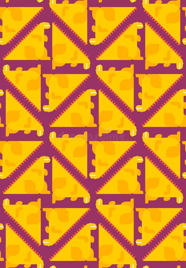 Dragon cartoon pattern seamless. Dinosaur background. Dino ornament. Vector  Baby cloth texture vector illustration