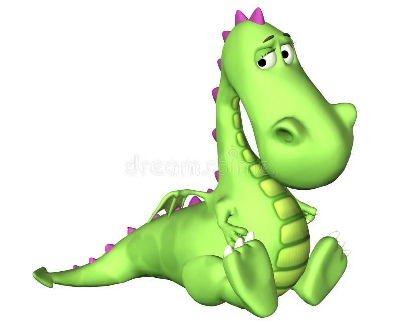 Download Dragon Cartoon - Very Sad stock illustration. Image of funny - 3339715