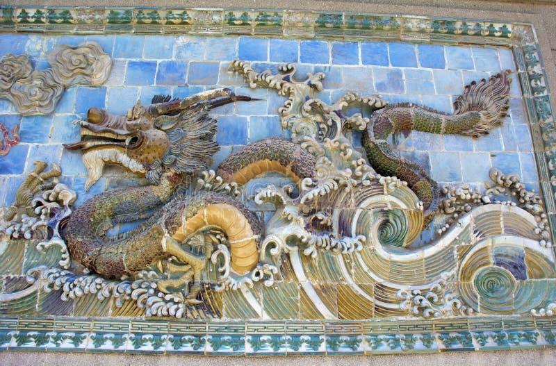 Dragon Carving foto de archivo libre de regalías