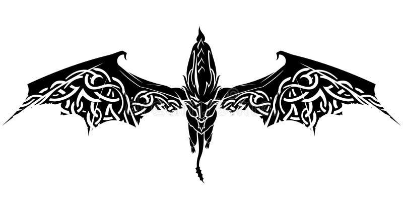 Dragon Celtic Wings vector illustratie