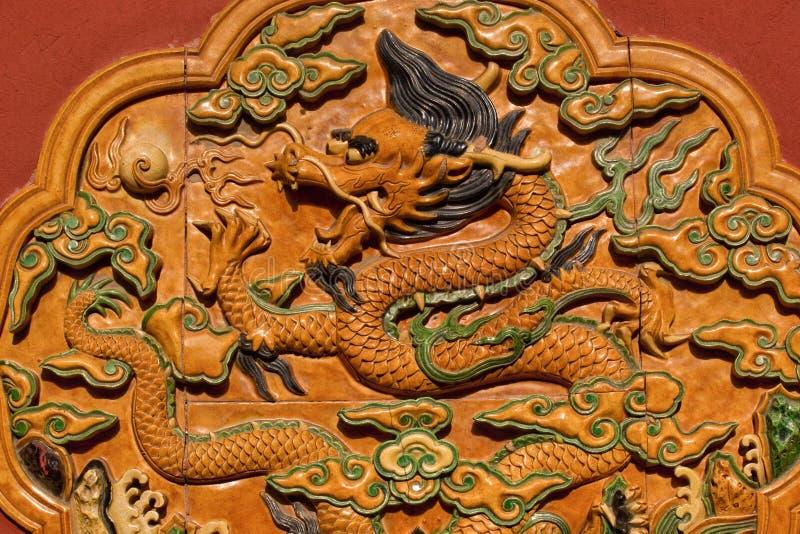 Dragon Ceramic Decoration Forbidden City Beijing royalty free stock images