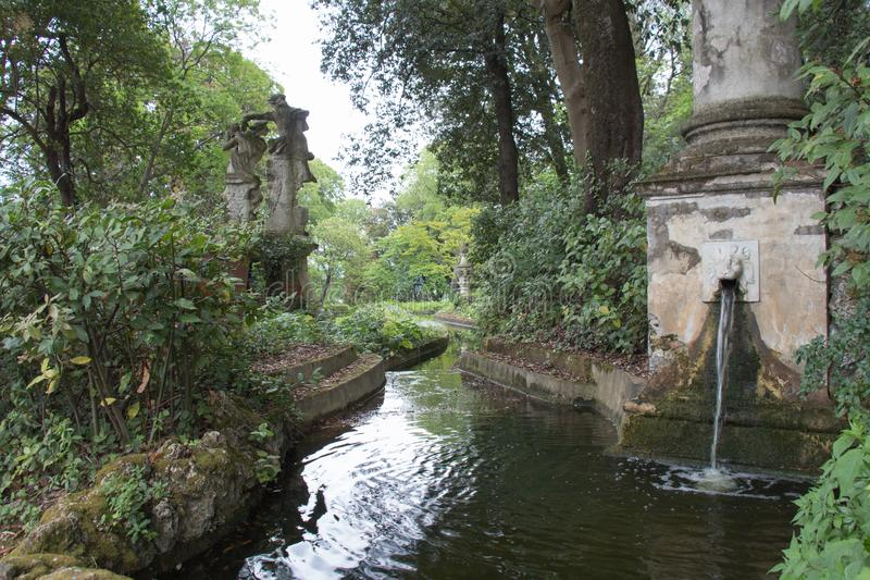 The dragon channel in Bardini Garden. Florence, Italy stock image