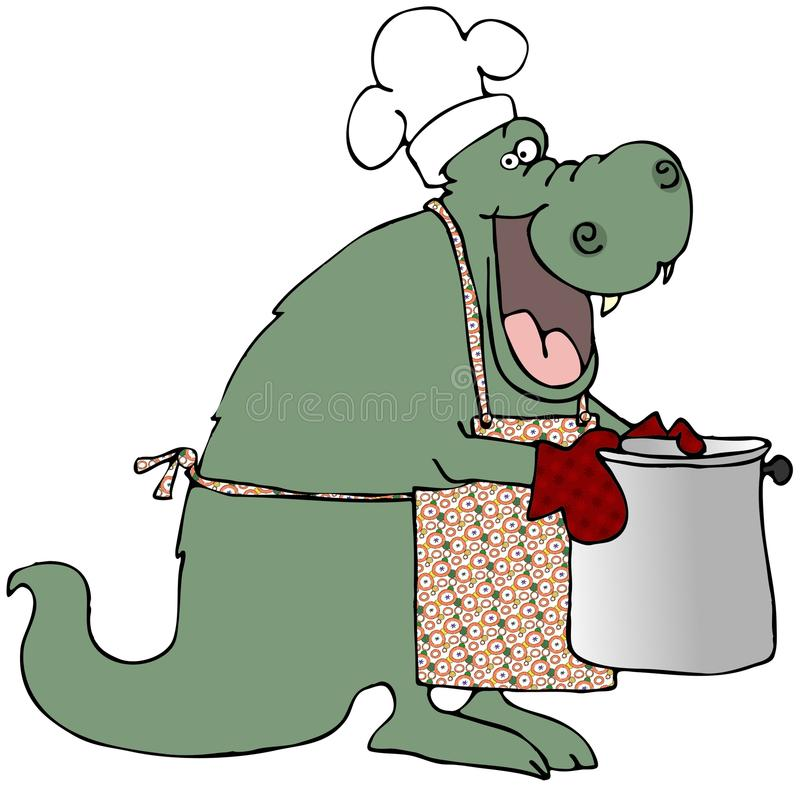 Download Dragon Chef stock illustration. Image of dinosaur, dragon - 9939524
