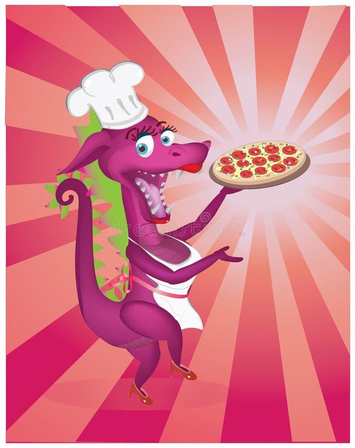 Dragon chef royalty free stock photo