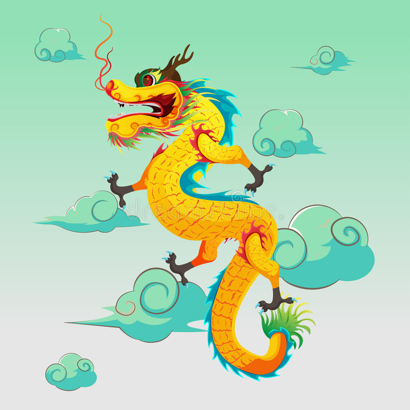 Dragon China Art Illustration Design Vector royalty free illustration