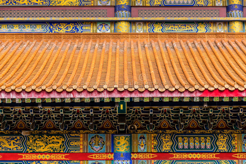 Dragon Chinese Temple Kammalawat , Thailand royalty free stock photos