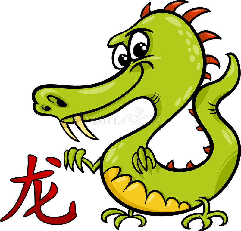 Dragon chinese zodiac horoscope sign royalty free illustration