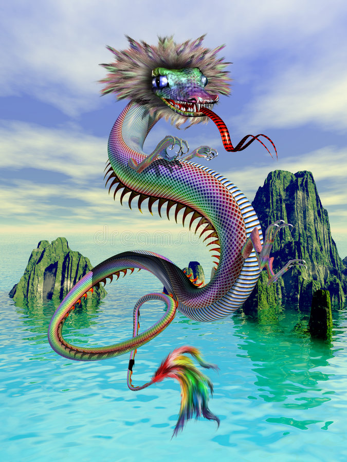 Dragon chinois illustration stock