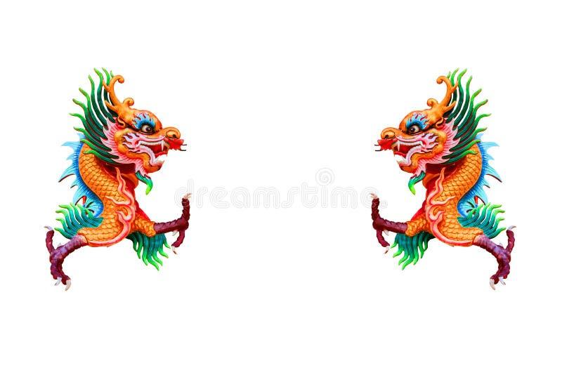 Dragon chinois coloré images stock