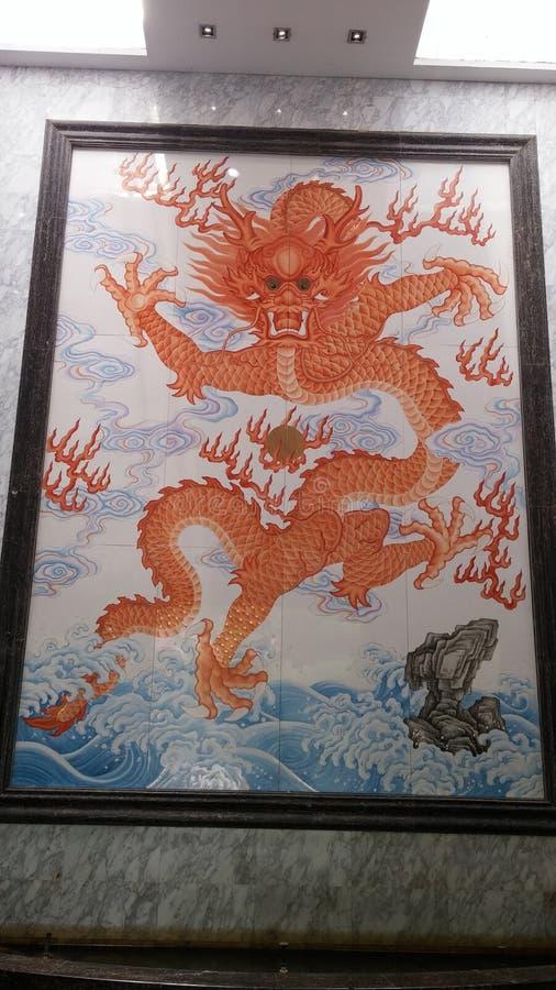 Dragon chinois, Jingdezhen photo stock