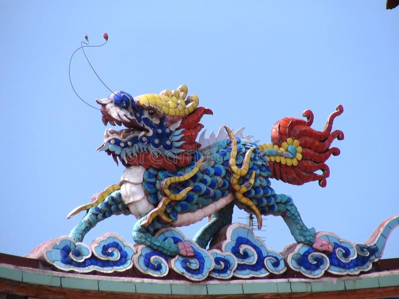 Dragon chinois réel image libre de droits