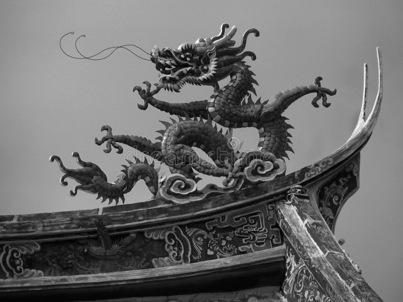 Dragon chinois réel photographie stock