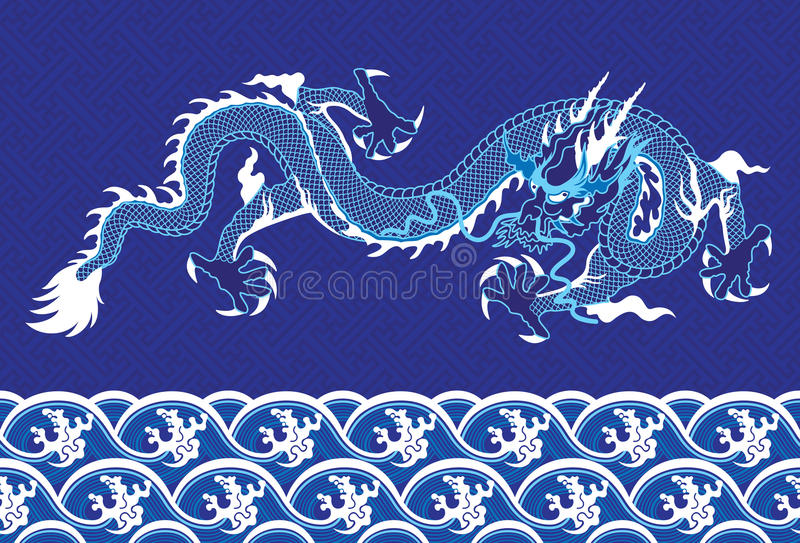 Dragon chinois sur la mer