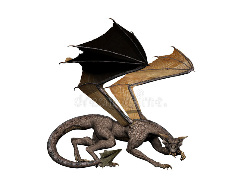 Dragon Crouch Stock Image