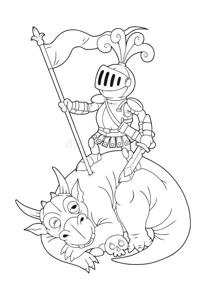 Dragon défait illustration stock