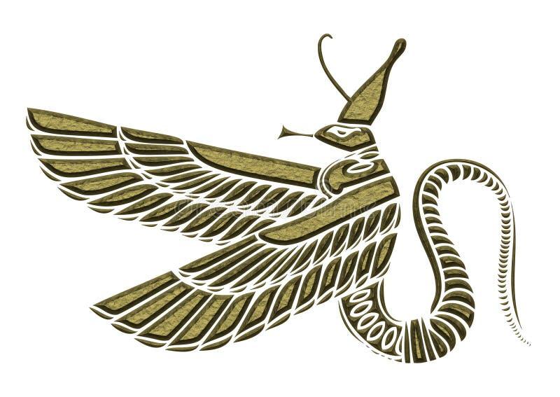 Dragon - démon de l'Egypte antique illustration stock