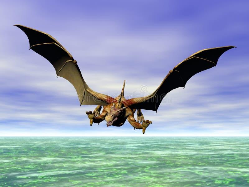 Dragon d'attaque illustration libre de droits