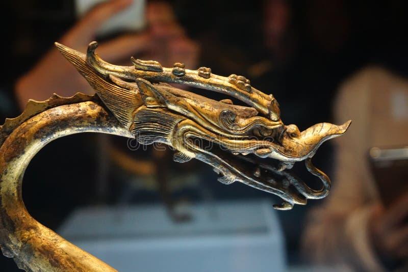 Dragon d'or de musée d'histoire de Shaanxi images libres de droits
