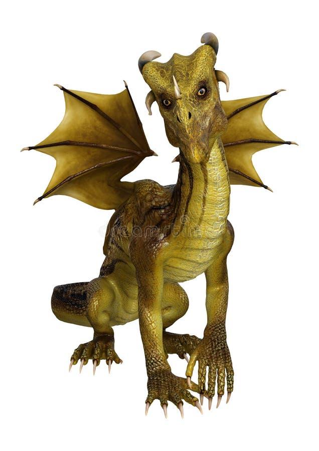 dragon d'imagination de l'illustration 3D sur le blanc illustration stock