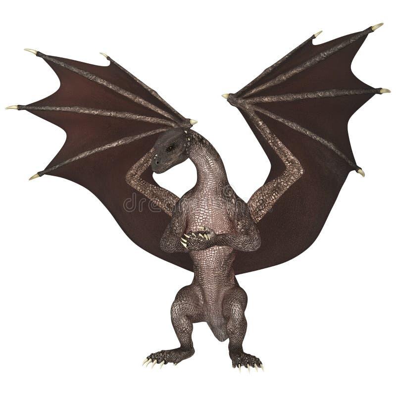 Dragon d'imagination sur le blanc illustration stock