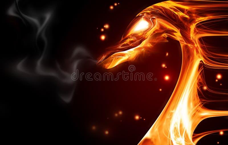 Dragon d'incendie illustration de vecteur
