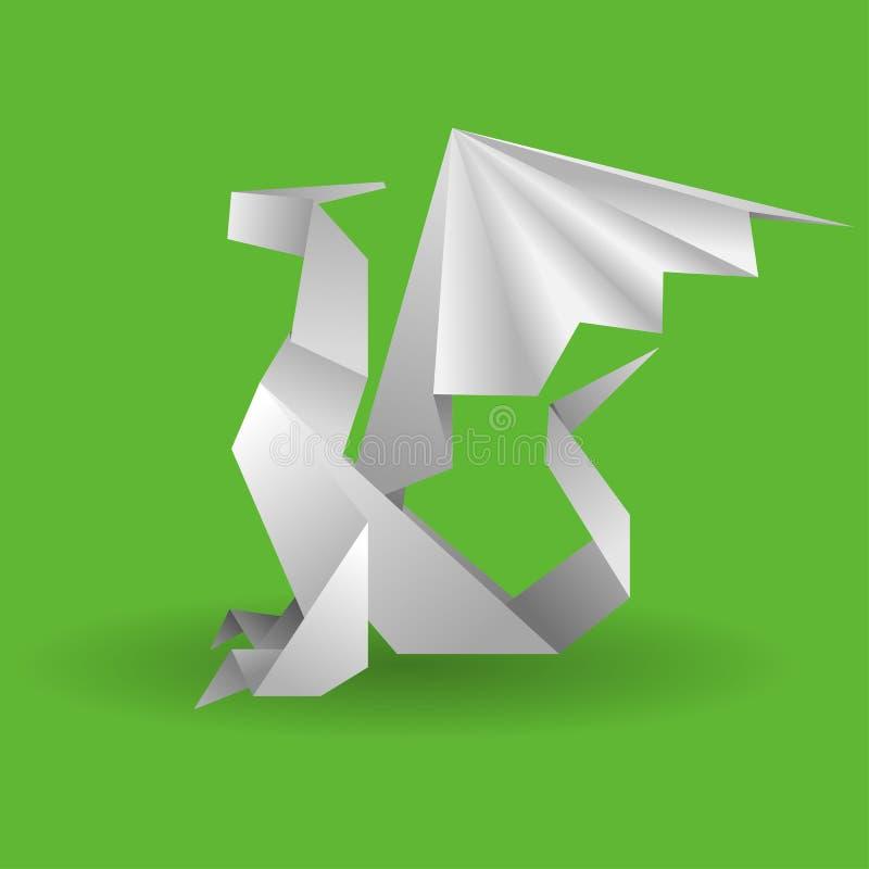 Dragon D Origami Photographie stock libre de droits