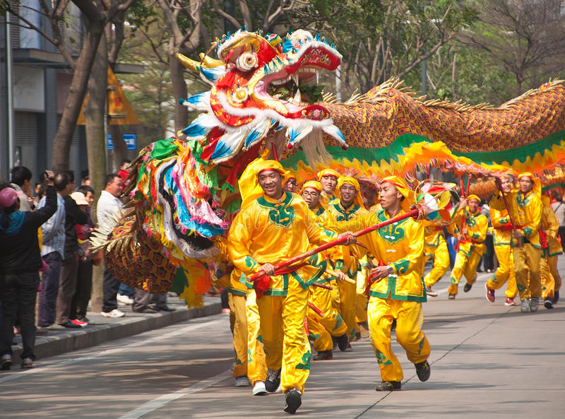 Download Dragon dance editorial photo. Image of intangible, totem - 24042096