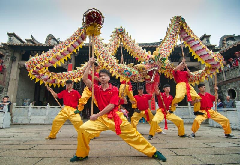 Dragon Dance royalty-vrije stock foto