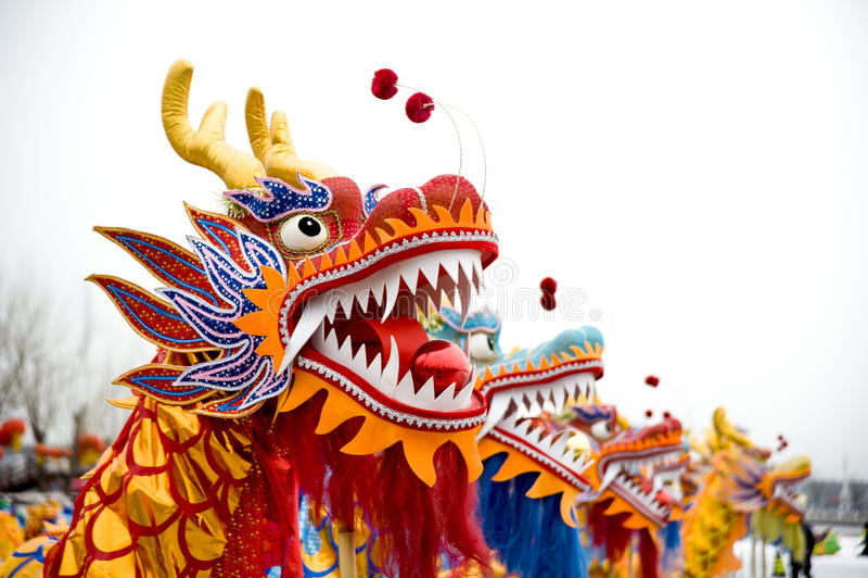 Dragon Dance royaltyfri fotografi