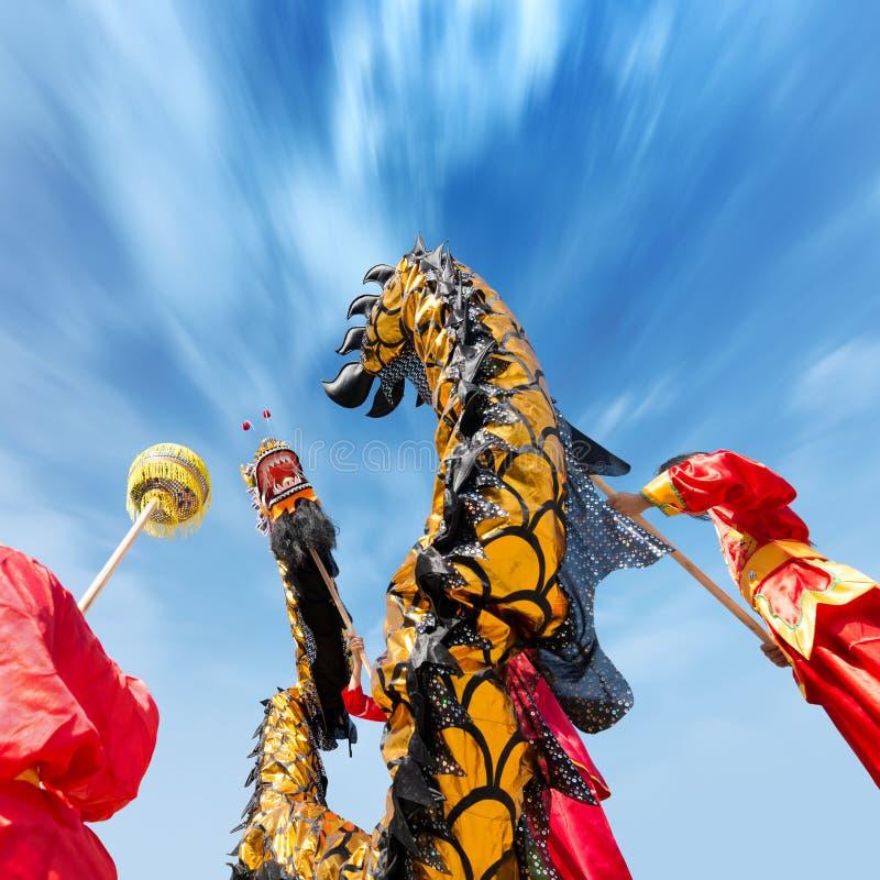 Dragon dance stock image