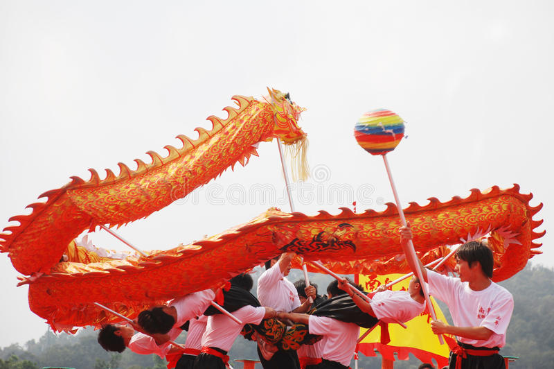 Download Dragon dance performance editorial stock photo. Image of parade - 13254948