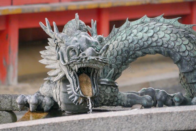 Dragon dans le temple de Kyoto, Japon photos libres de droits
