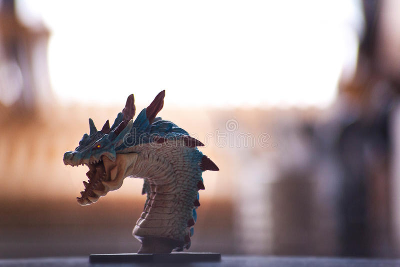 Dragon dans ma cuisine image stock