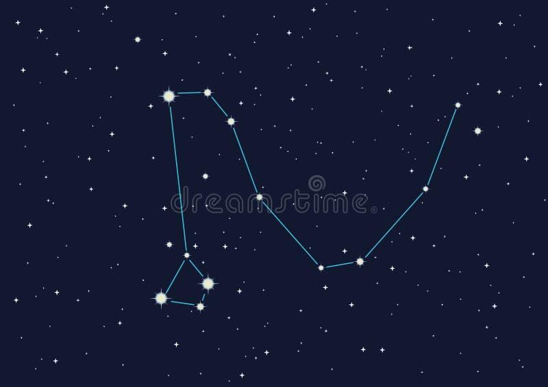 dragon de constellation illustration stock