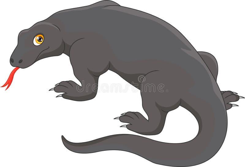 Dragon de Komodo illustration stock