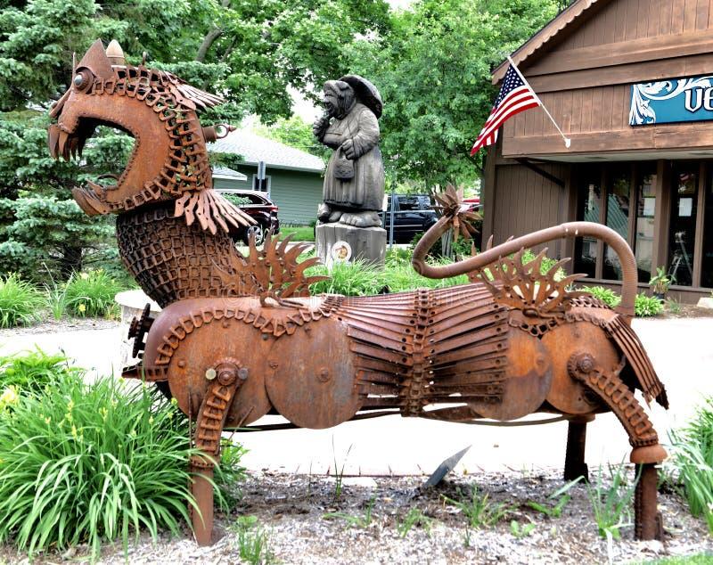 Dragon de mitraille photos stock
