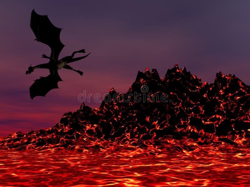 Dragon de nuit illustration libre de droits