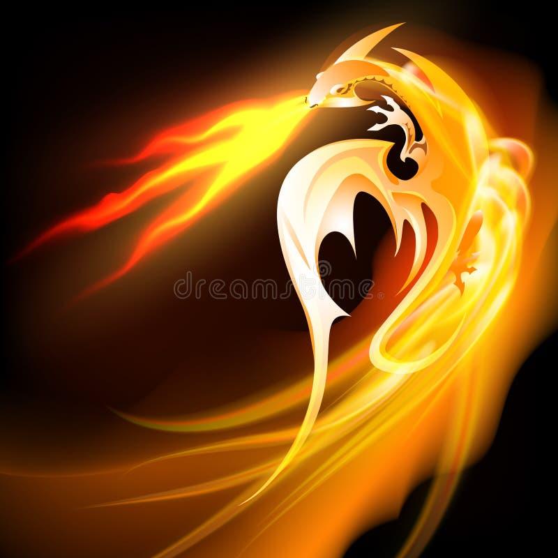 Dragon de respiration du feu illustration libre de droits