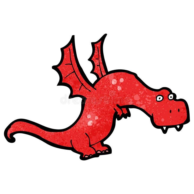 dragon de respiration du feu de bande dessinée illustration libre de droits