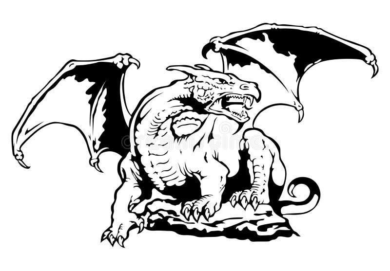 Dragon de vecteur illustration de vecteur