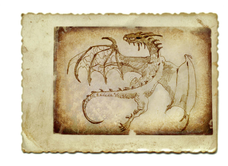Dragon de vol no.2 illustration libre de droits