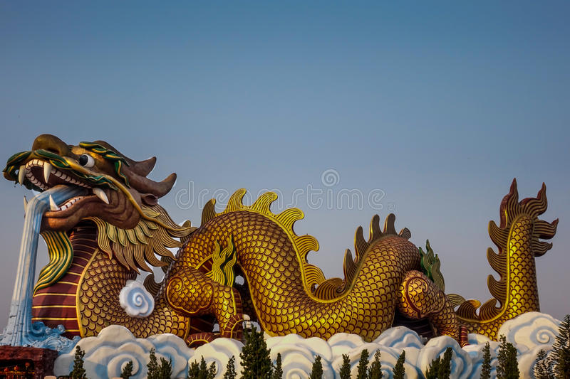 Dragon Descendants Museum Suphanburi Thailand immagini stock