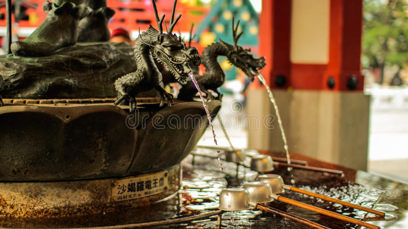 Dragon detailed purification fountain royalty free stock images