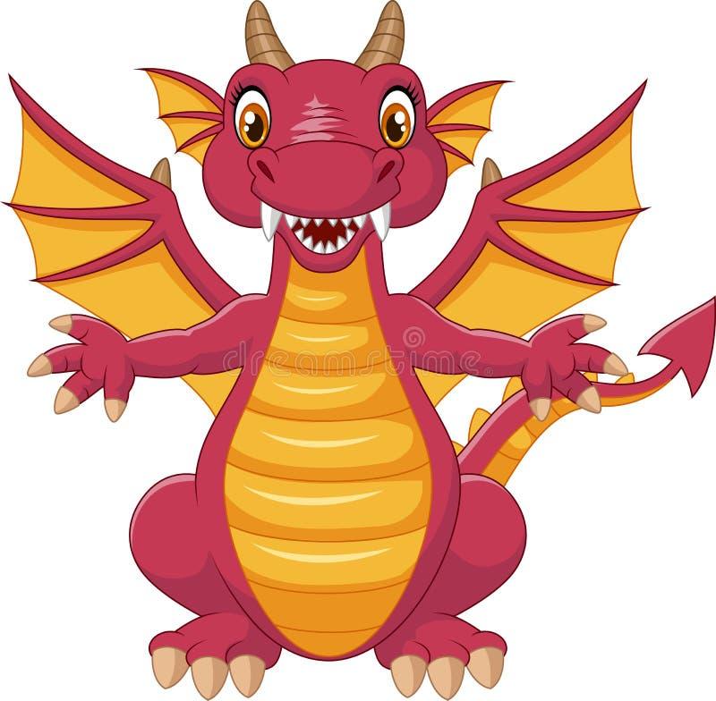 Dragon drôle de dessin animé illustration de vecteur