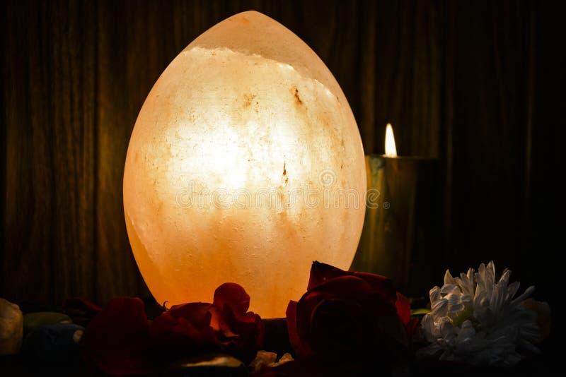 Dragon Egg Natural Salt Lamp | Himalayanzout stock foto's